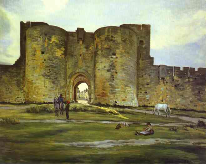Port of the Queen at Aigues-Mortes, 1867 - Frederic Bazille