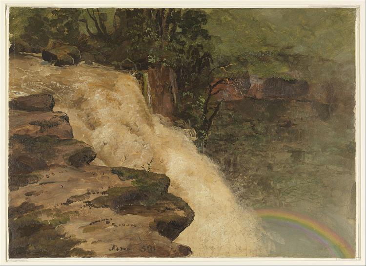 A Waterfall in Colombia, 1853 - Frederic Edwin Church
