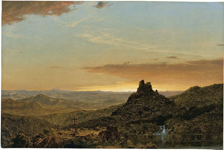 Croix dans un paysage agreste, 1857 - Frederic Edwin Church