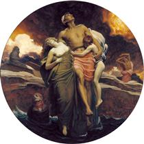 And the sea gave up - Frederic Leighton