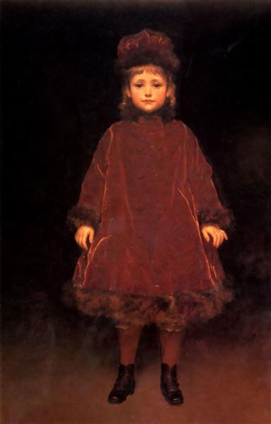 Portrait of a child - Frederic Leighton