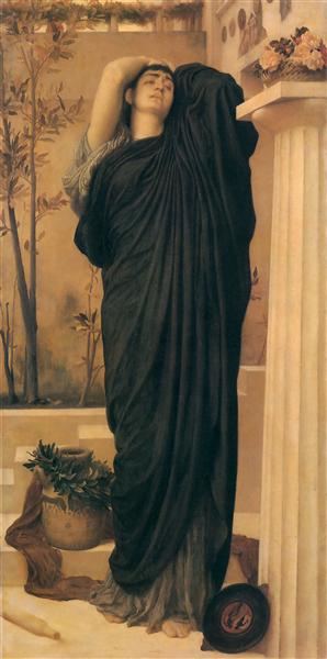 Electra at the Tomb of Agamemnon, c.1868 - Frederic Leighton