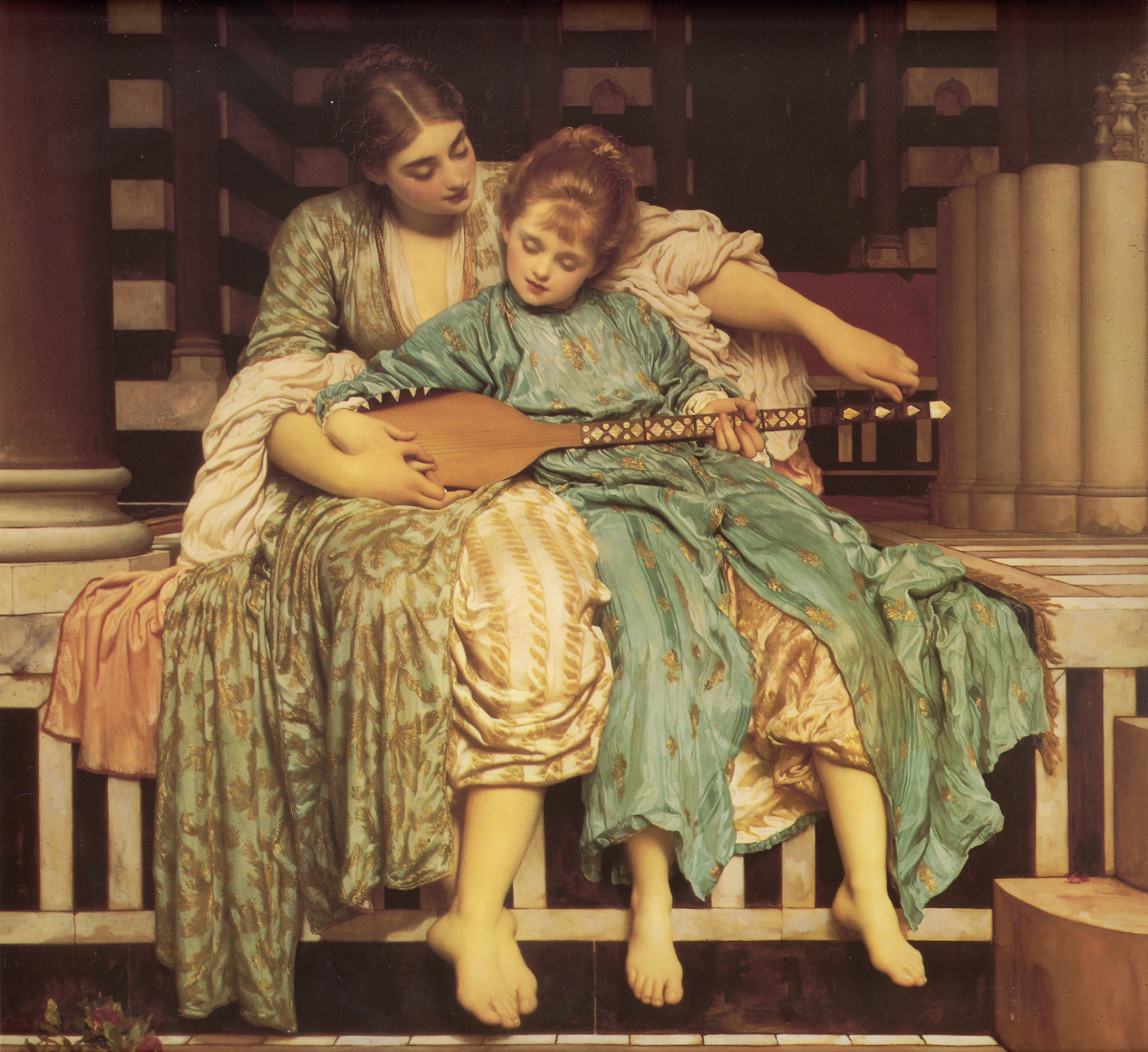 Music Lesson by Lord Frederic Leighton, circa 1877