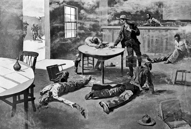 A Misdeal, 1897 - Frederic Remington