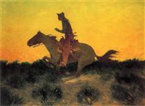Against the Sunset - Фредерик Ремингтон