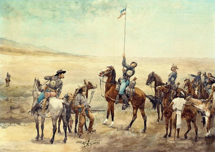 Signaling the Main Command, 1885 - Frederic Remington