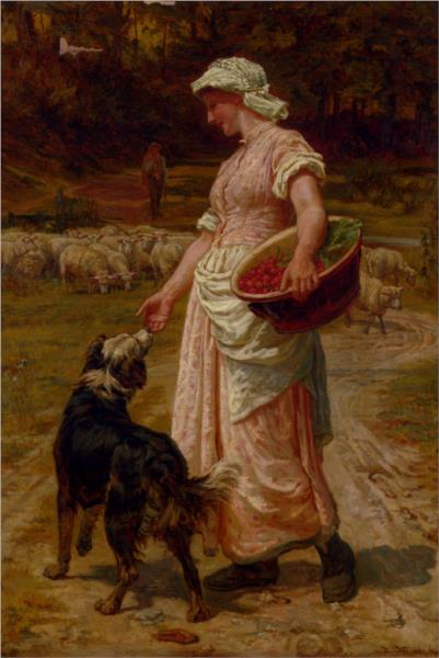 Love Me, Love My Dog, 1879 - Frederick Morgan