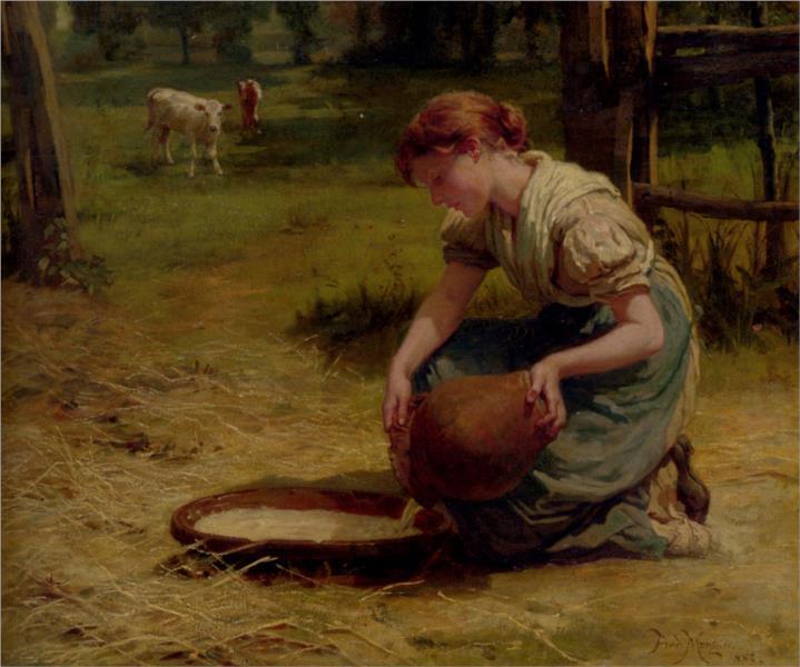 Milk For The Calves, 1883 - Frederick Morgan