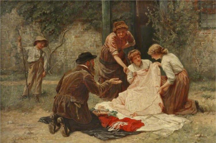 The Pedlar, 1883 - Frederick Morgan