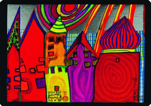 637A  Waiting Houses, 1969 - Friedensreich Hundertwasser