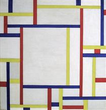 Painting (white) - Fritz Glarner