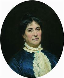Portrait of the Artist's Wife - Fyodor Bronnikov