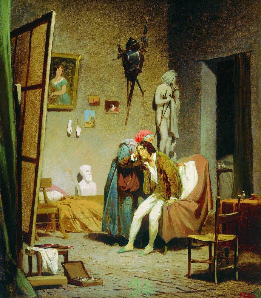 Sick artist, 1861