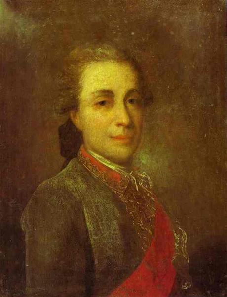 Portrait of an Unknown man in a Green Caftan, c.1770 - Fyodor Rokotov