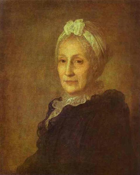 Portrait of Anna Yuryevna Kvashnina-Samarina, c.1770 - Fyodor Rokotov