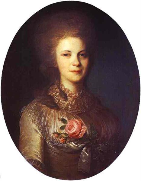 Portrait of V.N.Surovtseva, c.1780 - Федір Рокотов