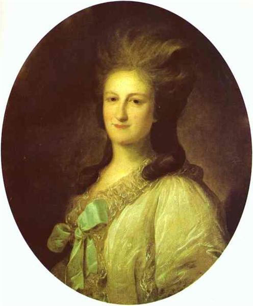 Portrait of Varvara Ermolayevna-Novosiltseva, 1780 - Fyodor Rokotov