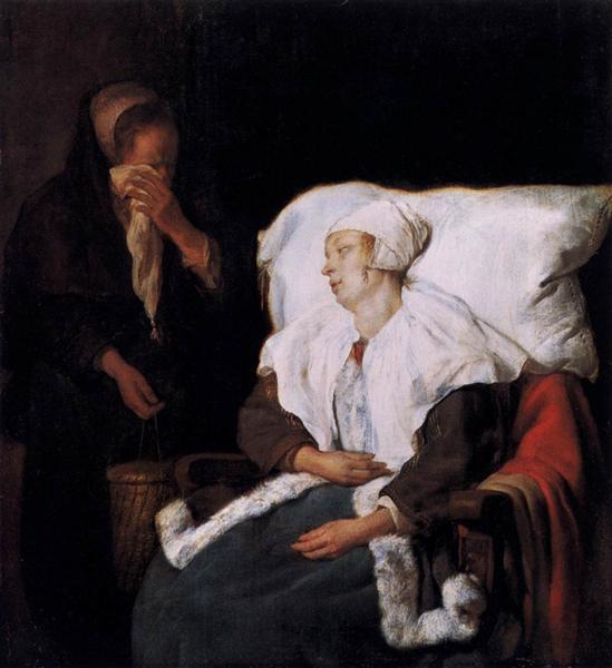 The Sick Girl, 1658 - 1659 - Gabriel Metsu