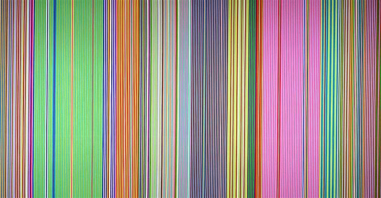 Raspberry Icicle, 1967 - Gene Davis
