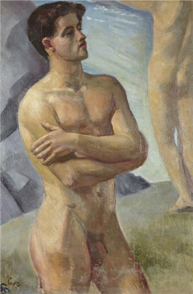 Bathing Men - Georg Pauli