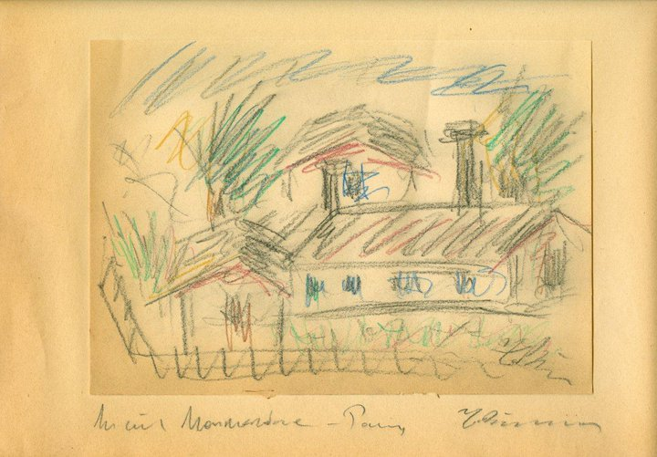 Houses in Montmartre, 1931 - George Bouzianis