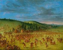 Ball-play of the Choctaw--Ball Up - Джордж Кетлін