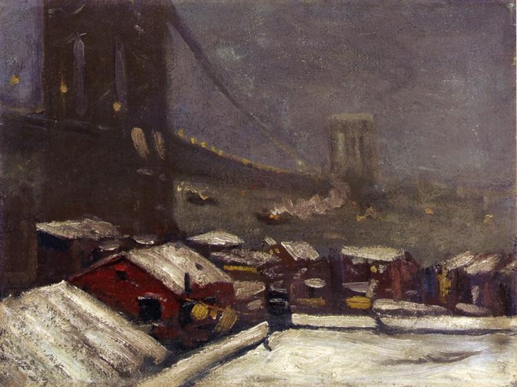 Brooklyn Bridge - George Luks