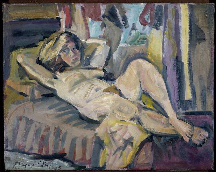 Lying naked, 1985 - George Mavroides