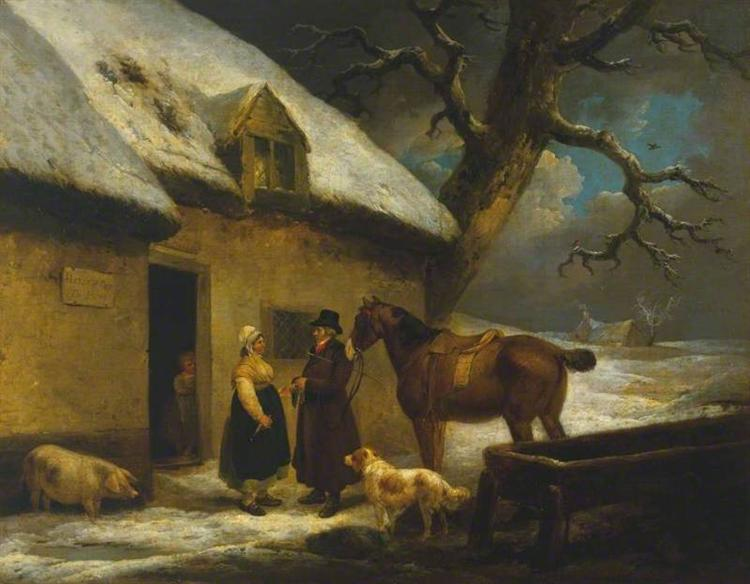 Outside an Inn, Winter, 1795 - George Morland