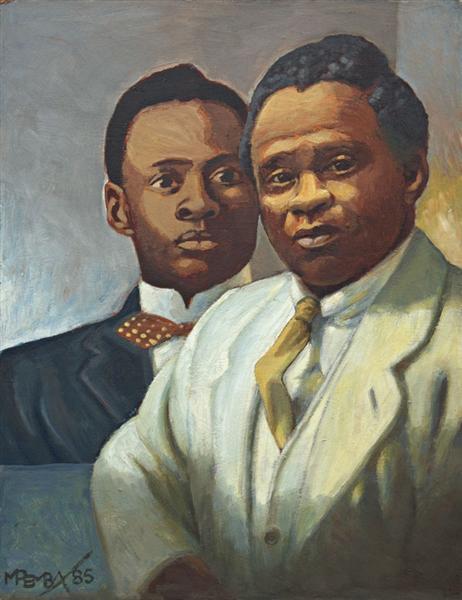 Portrait of Sol Plaatje, 1985 - George Pemba