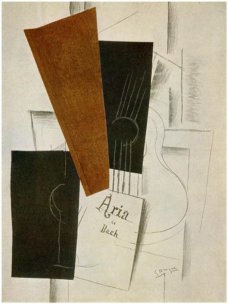 Aria de Bach, 1913 - Georges Braque