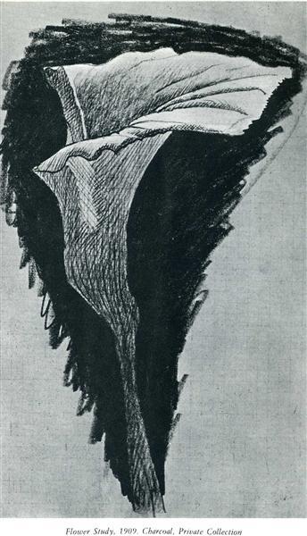 Flower study, 1909 - Georges Braque