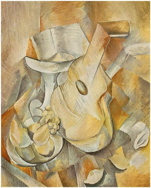 Guitar and Fruit Dish, 1909 - Georges Braque