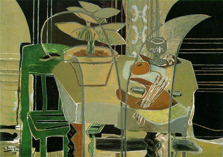 Interior with Palette, 1942 - Georges Braque