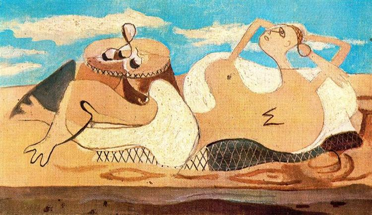 Nude Reclining on the pedestal, 1931 - Georges Braque