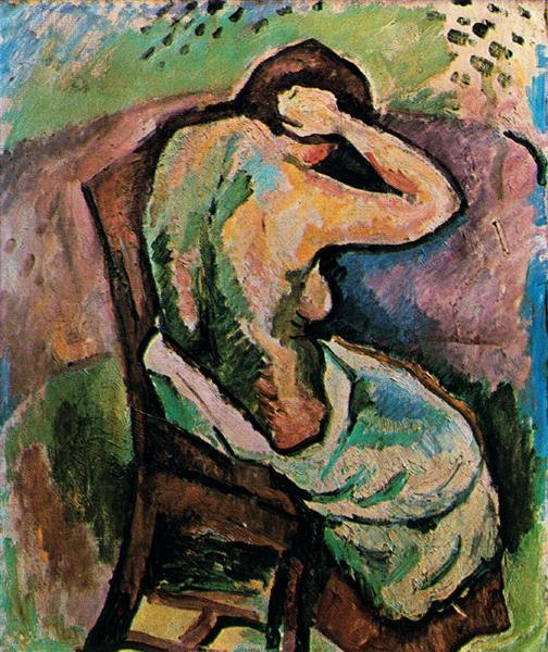 Seated woman, 1907 - Georges Braque