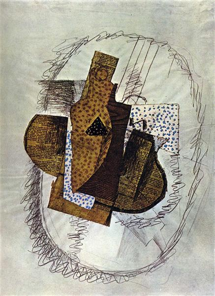 Still life with Bottle of Bass, 1914 - Georges Braque