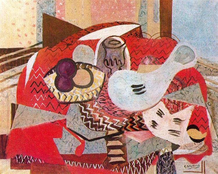 Still life with red tablecloth, 1934 - Georges Braque