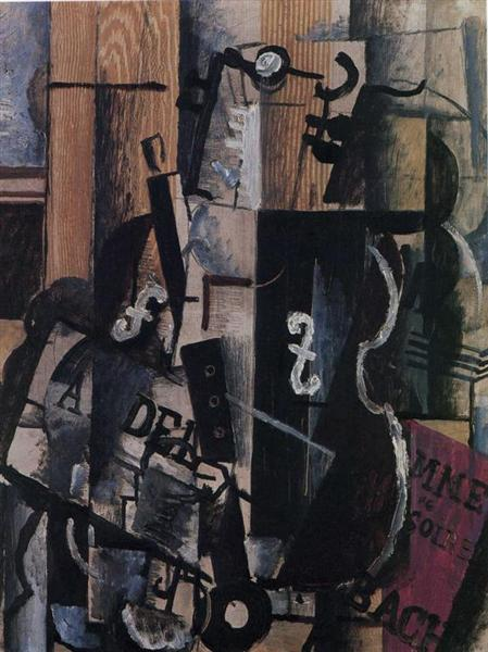 Violin and Clarinet on a Table, 1912 - Georges Braque