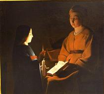 Education of the Virgin - Georges de la Tour