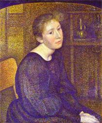 Portrait of Mme Lemmen - Жорж Леммен