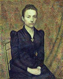 Portrait of the Artist's Sister - Жорж Леммен