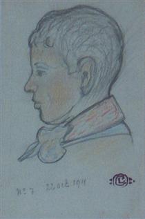 Profile of a Young Boy - Жорж Леммен