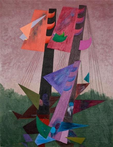 Composition aux mats, c.1930 - Georges Papazoff