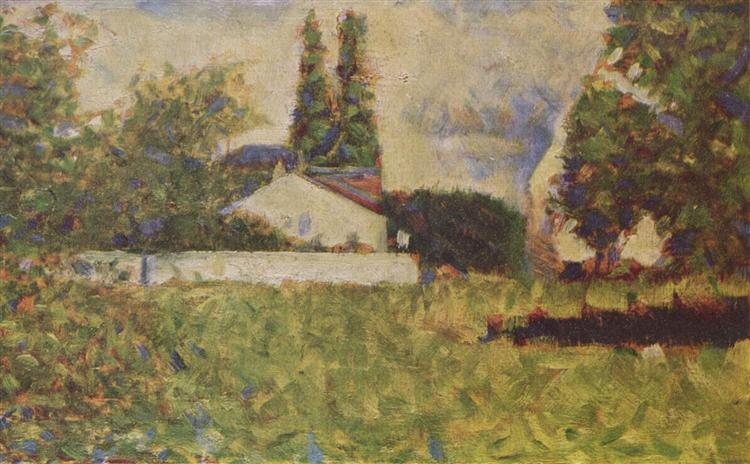 A house between trees, 1883 - Georges Seurat
