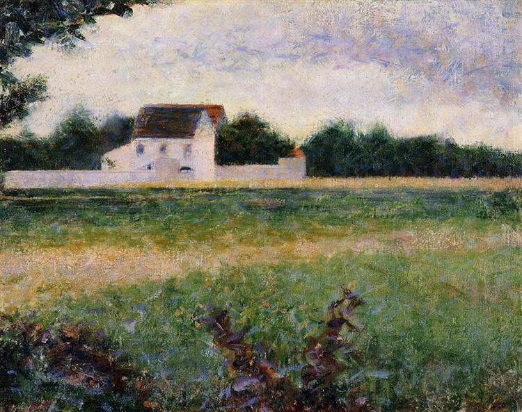 Landscape in the Ile-de-France, 1881 - 1882 - Жорж Сера