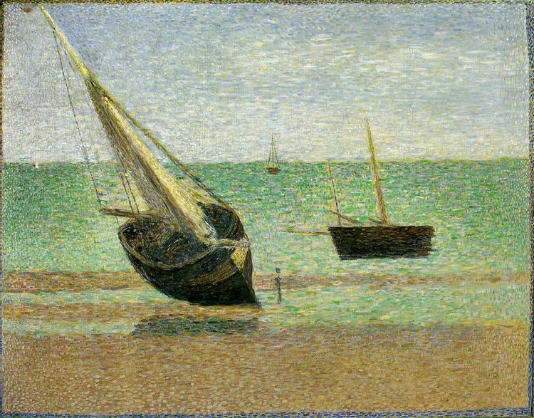 Low Tide at Grandcamp, 1885 - Georges Seurat