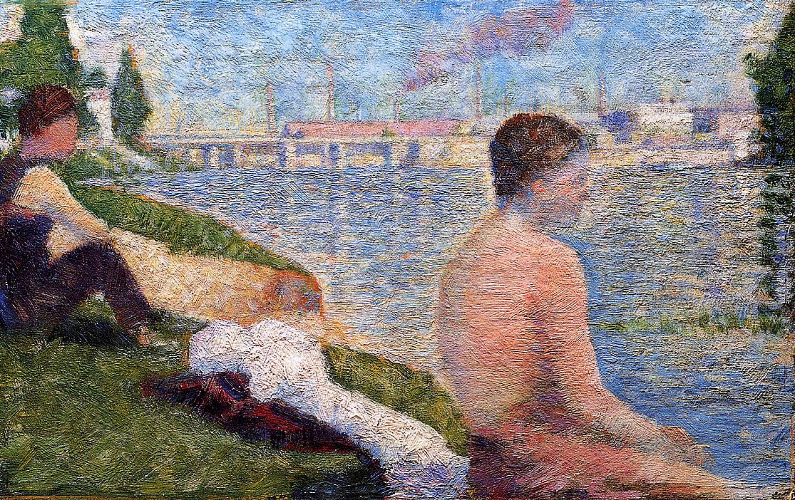 Seated Bather, 1883 - Georges Seurat - WikiArt.org
