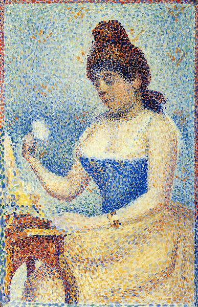 """Study for """"Young Woman Powdering Herself"""", 1889 - 1890 - Georges Seurat"""