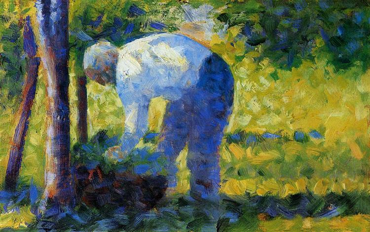 The Gardener, 1883 - 1884 - Georges Seurat